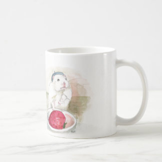 Little Pierro the Hamster with Strawberry Classic White Coffee Mug