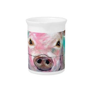 Little Pig Design Beverage Pitcher