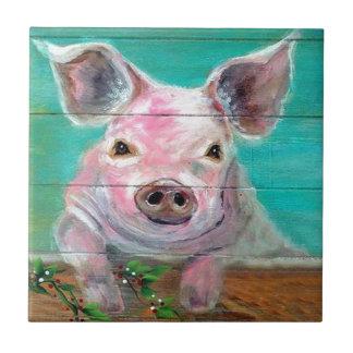Little Pig Design Ceramic Tile