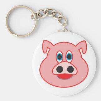 Little pig didactic illustration drawing pedagógic basic round button keychain