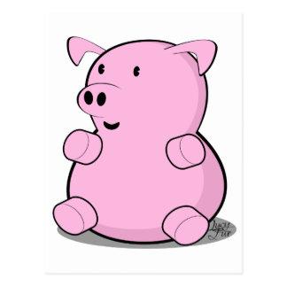 little-pig postcard