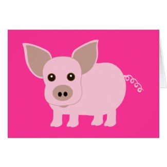 Little Piggie card
