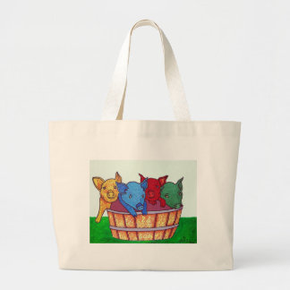 Little Piggies by Piliero Large Tote Bag