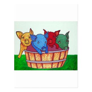 Little Piggies by Piliero Postcard