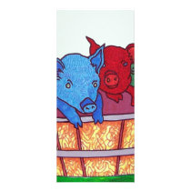 Little Piggies by Piliero Rack Card