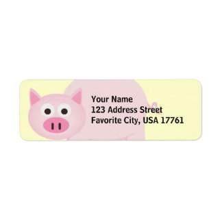 Little Piggy Address Labels