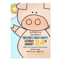 Little Piggy Birthday Party Invitation