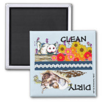 Little Piggy Dishwasher Magnet- Clean or Dirty Magnet