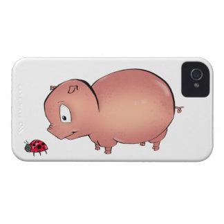 Little Piggy follows Ladybug iPhone 4 Case-Mate Case