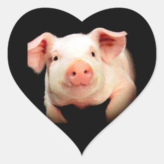 Little Piggy Heart Sticker