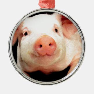 Little Piggy Metal Ornament