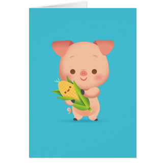 Little Piggy Notecard Stationery Note Card