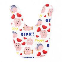 Little Piggy Oink Baby Bib