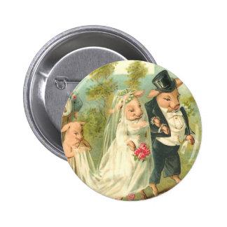 Little Piggy Wedding Button