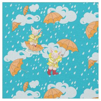 Little Piglet and Rain Shower Fabric