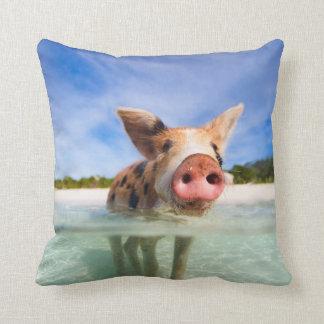 Little piglet throw pillow
