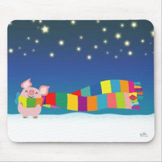 Little Pig's Christmas mousepad