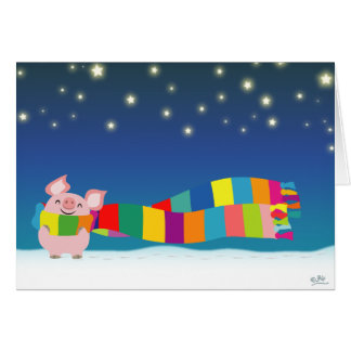 Little Pig's Christmas notecard Greeting Card