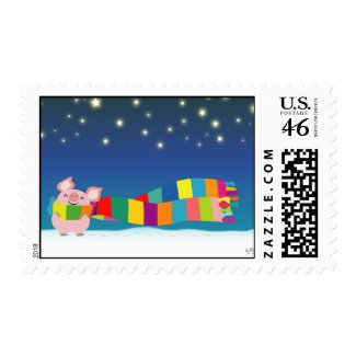 Little Pig's Christmas postage stamp stamp
