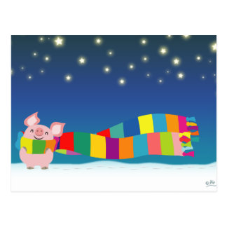 Little Pig's Christmas postcard