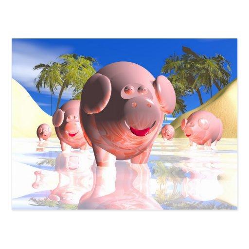 Little pigs postcard