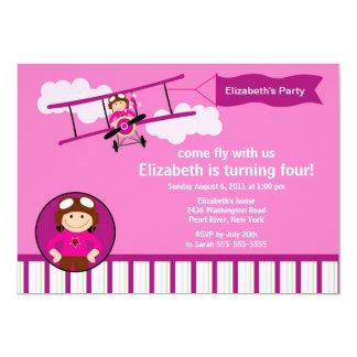 Little Pilot Airplane Birthday Party Invitation