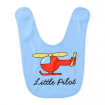 Little Pilot baby bib with toy helicopter