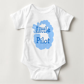 Little pilot baby creeper with flying airplain