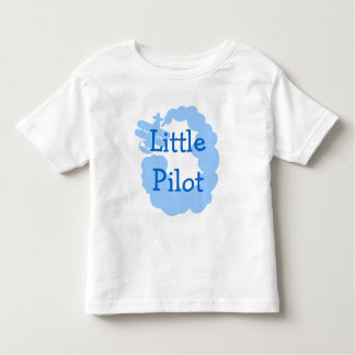 Little pilot toddler t shirt with flying airplain