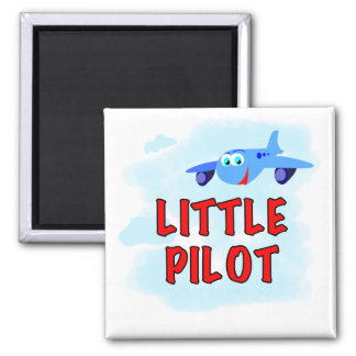 Little Pilot Tshirts and Gifts 2 Inch Square Magnet