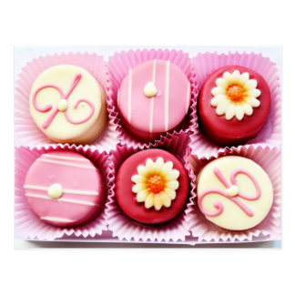 Little Pink and White Chocolate Post Card