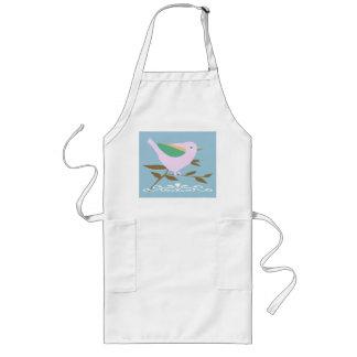 Little pink bird long apron