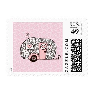 Little pink camper postage