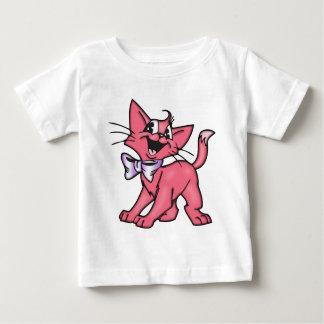 Little Pink Cartoon Cat Kitten Baby T-Shirt