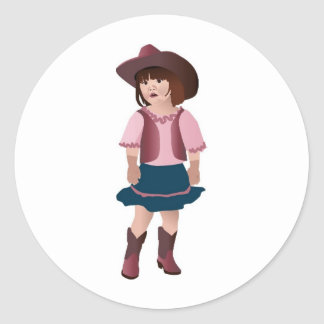 Little Pink Cowgirl Stickers