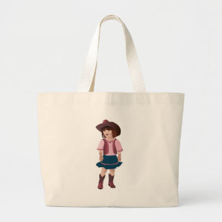 Little Pink Cowgirl Tote Bags