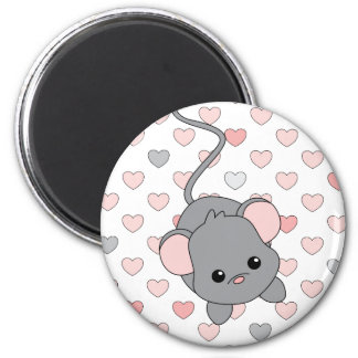 Little Pink Ears 2 Inch Round Magnet