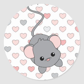 Little Pink Ears Sticker