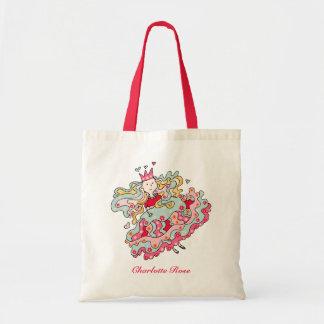 Little Pink Flower Princess Tote Bag