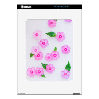 little pink flowers decal for the iPad