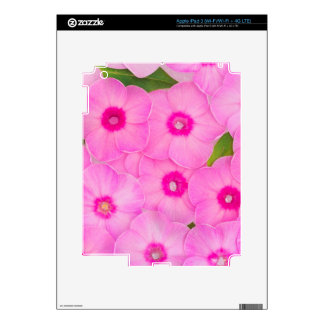 little pink flowers iPad 3 decals