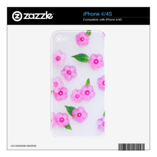 little pink flowers iPhone 4 skins