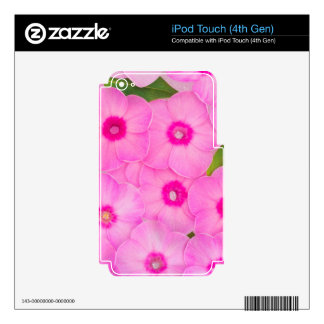 little pink flowers iPod touch 4G skin