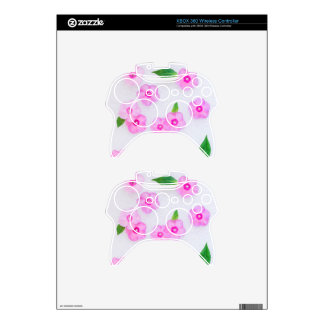 little pink flowers xbox 360 controller decal