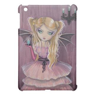 Little Pink Gothic Vampire iPad Case
