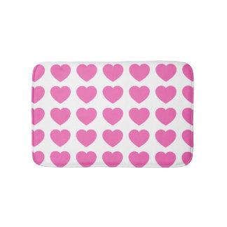 Little Pink Hearts Bath Mat