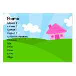 Little Pink House Profile Card Business Card