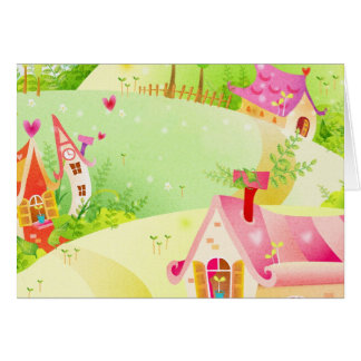 little pink houses card