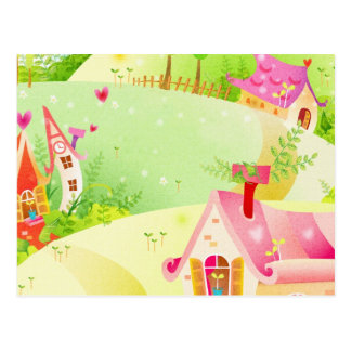 little pink houses postcard