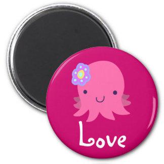 Little Pink Love Octopus Magnet Fridge Magnets